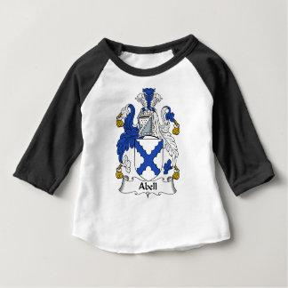 Manteau de famille d'Abell des bras et des crêtes T-shirt Pour Bébé