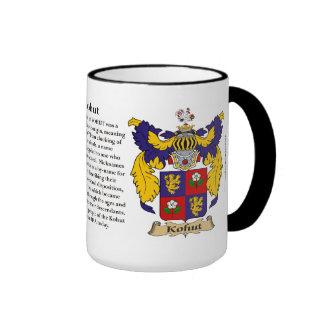 Manteau de famille de Kohut des bras (Angleterre) Mug Ringer
