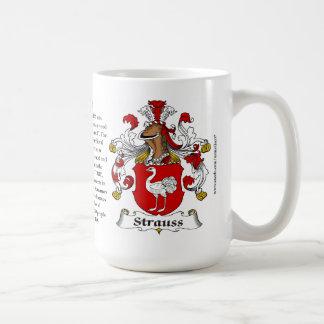 Manteau de famille de Strauss des bras Mug À Café