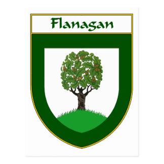 Manteau de Flanagan des bras/de crête de famille Cartes Postales