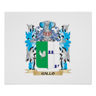 Manteau de Gallo des bras - crête de famille Affiche