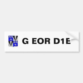 Manteau de Geordie des bras, G EOR D1E Autocollant De Voiture