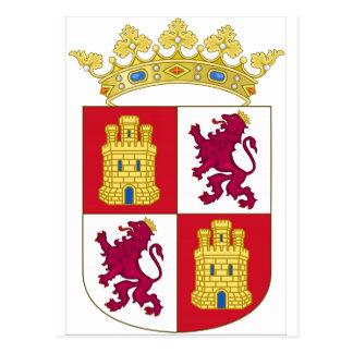 Manteau de la Castille y Léon (Espagne) des bras Carte Postale