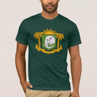 Manteau de la Côte d'Ivoire de T-shirt de bras