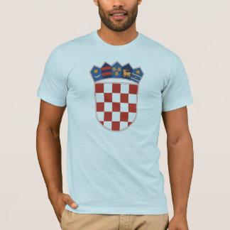 Manteau de la Croatie de T-shirt de bras