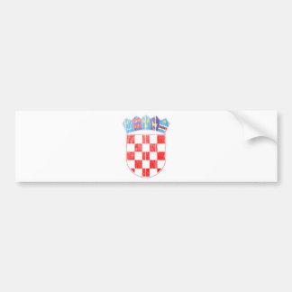Manteau de la Croatie des bras Autocollant Pour Voiture
