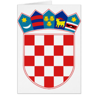 Manteau de la Croatie des bras heure Hrvatska Carte De Vœux