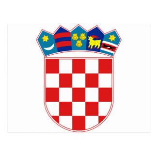 Manteau de la Croatie des bras heure Hrvatska Carte Postale