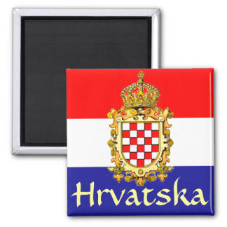 Manteau de la Croatie des bras Magnet Carré