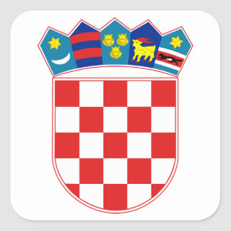 Manteau de la Croatie des bras Sticker Carré