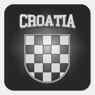 Manteau de la Croatie des bras Sticker Carré