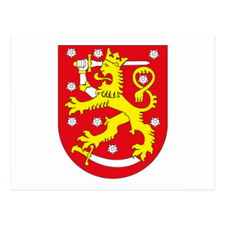 Manteau de la Finlande de carte postale de bras