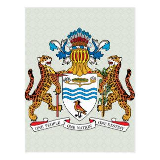 Manteau de la Guyane de détail de bras Carte Postale