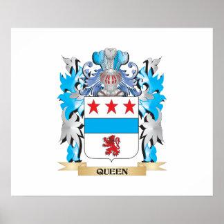 Manteau de la Reine des bras - crête de famille Poster