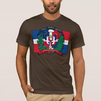 Manteau de la République Dominicaine des bras T-shirt