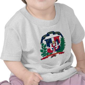 Manteau de la République Dominicaine des bras T-shirts