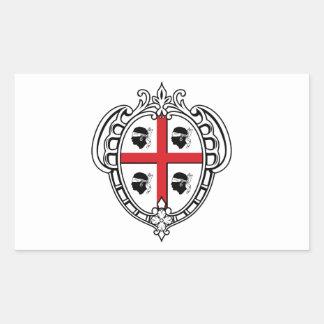 Manteau de la Sardaigne Italie des bras Autocollants En Rectangle