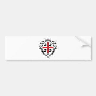 Manteau de la Sardaigne (Italie) des bras Autocollant De Voiture