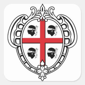 Manteau de la Sardaigne (Italie) des bras Sticker Carré