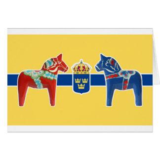 Manteau de la Suède Dala des bras Carte De Vœux