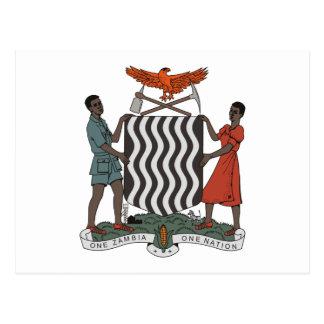 Manteau de la Zambie de carte postale de bras