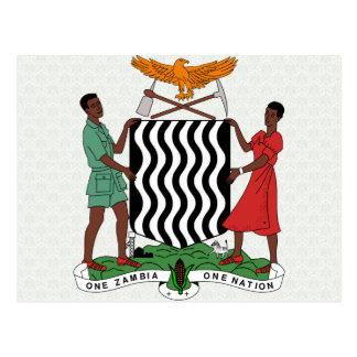 Manteau de la Zambie de détail de bras Carte Postale