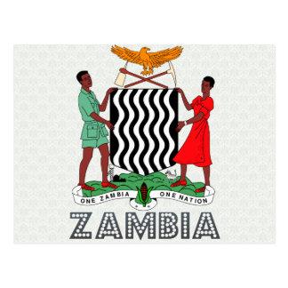 Manteau de la Zambie des bras Carte Postale