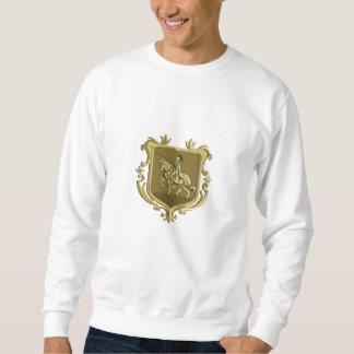 Manteau de lance de coursier d'équitation de sweatshirt
