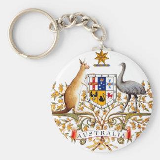 Manteau de l'Australie des bras Porte-clé Rond