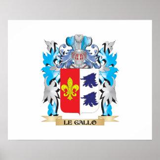 Manteau de Le-Gallo des bras - crête de famille Poster
