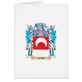 Manteau de Luna des bras - crête de famille Carte De Vœux