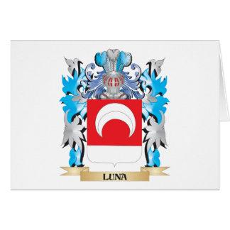 Manteau de Luna des bras - crête de famille Carte