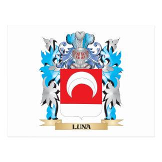 Manteau de Luna des bras - crête de famille Cartes Postales