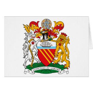 Manteau de Manchester de carte de voeux de bras