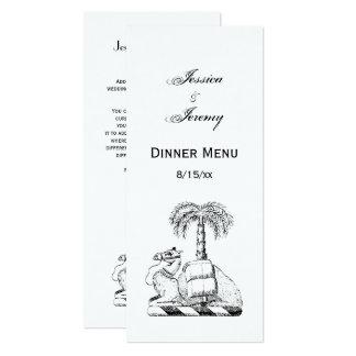 Manteau de palmier de chameau des bras héraldique carton d'invitation  10,16 cm x 23,49 cm