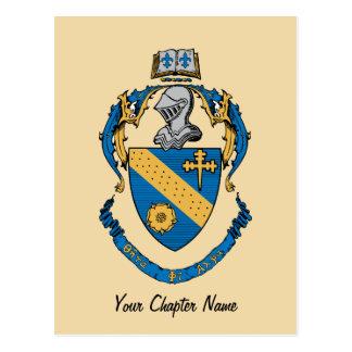 Manteau de phi de thêta alpha des bras cartes postales