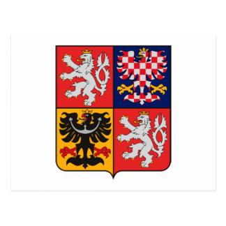Manteau de République Tchèque de carte postale de