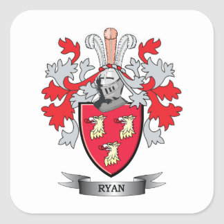 Manteau de Ryan des bras Sticker Carré