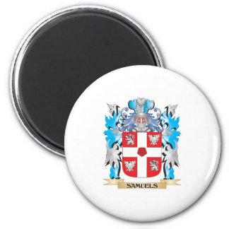 Manteau de Samuels des bras - crête de famille Magnet Rond 8 Cm