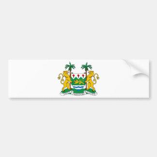 Manteau de Sierra Leone des bras Autocollant De Voiture
