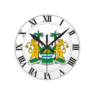 Manteau de Sierra Leone des bras Horloge Murale