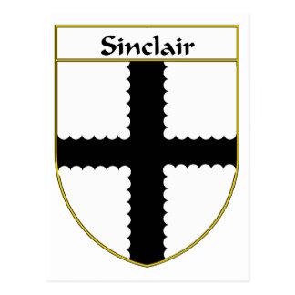 Manteau de Sinclair des bras/de crête de famille Carte Postale