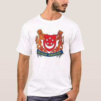 Manteau de Singapour de T-shirt de bras