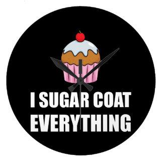 Manteau de sucre tout petit gâteau grande horloge ronde