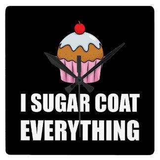 Manteau de sucre tout petit gâteau horloge carrée