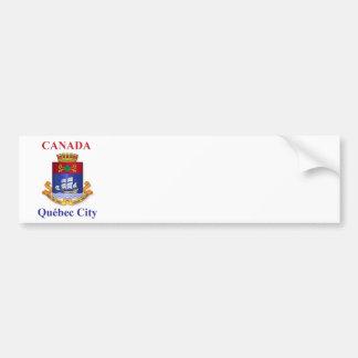 Manteau de ville de Québec des bras Autocollant De Voiture