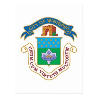 Manteau de Winnipeg des bras Carte Postale