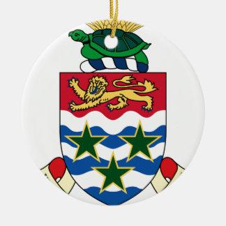 Manteau d'emblème des Îles Caïman des bras Ornement Rond En Céramique