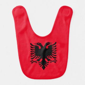 Manteau des bras albanais bavoir de bébé