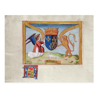 Manteau des bras d'Anne de la Bretagne 1515 Carte Postale
